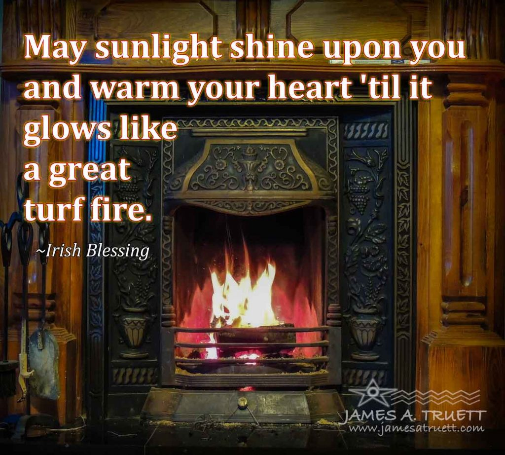 Turf Fire and Irish Blessing
