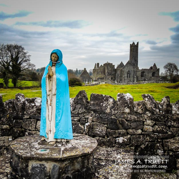 Official Greeter at Ireland's Quin Abbey National Monument