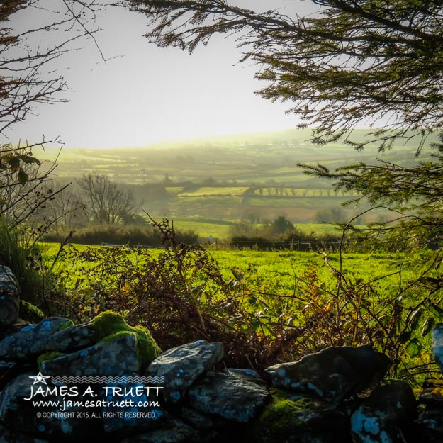 Morning Irish Mist in the County Clare Countryside
