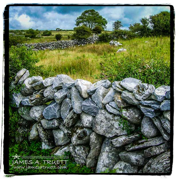 Stone Fence Burren County Clare