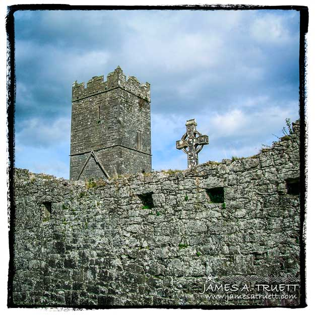 Ruins of Clare Abbey in County Clare, Ireland