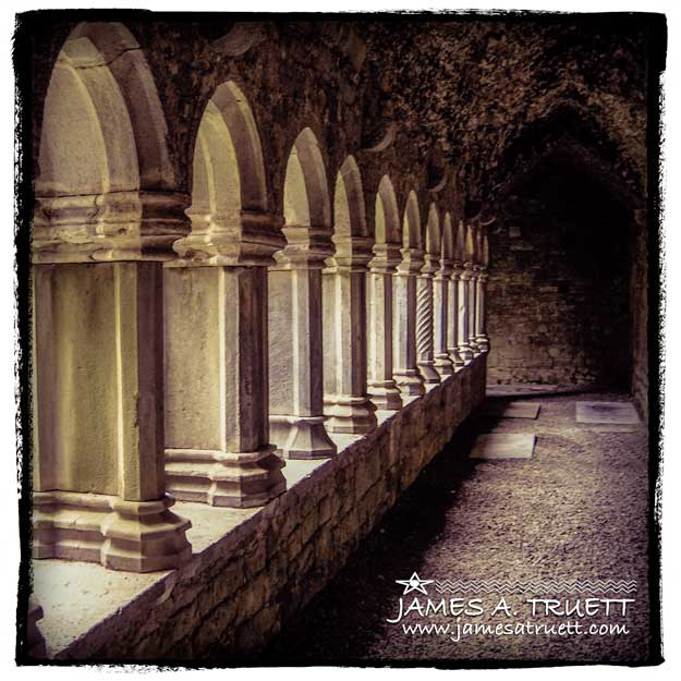 Quin Abbey Cloister, County Clare, Ireland