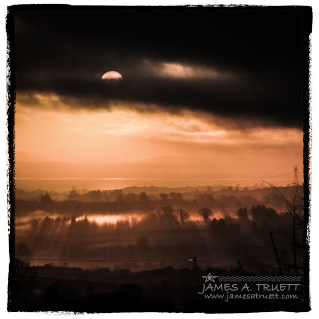 Morning Sun Low Irish Mist County Clare Ireland