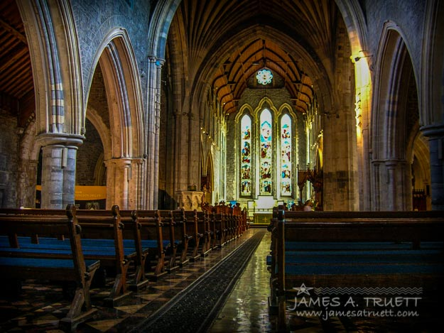 Interior of St. Canice's Cathedral in Kilkenny