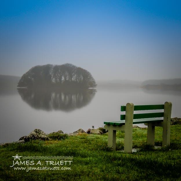Misty Morning on Lake Knockalough in County Clare, Ireland