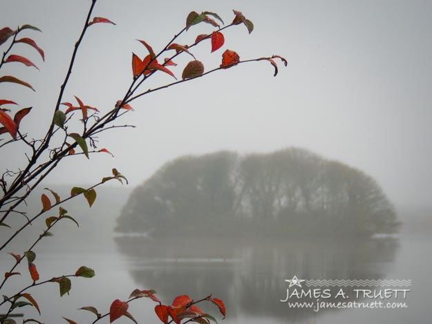 Irish Crannog in the Mist