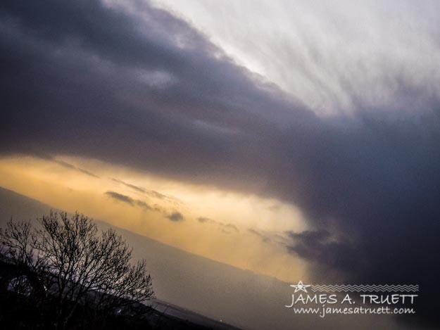 Winter storm over Western Ireland.