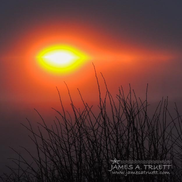 Eye of Winter - The rising sun on this Winter Solstice morning over County Clare, #Ireland.