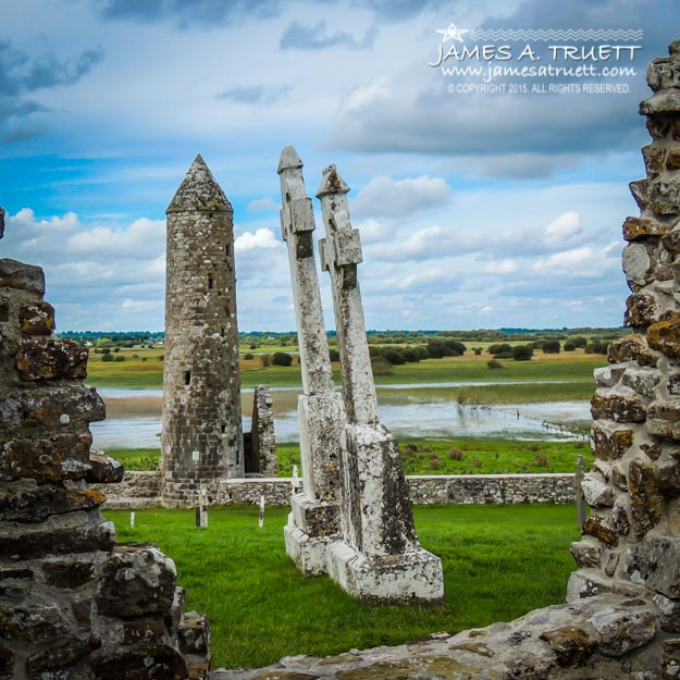 McCarthy's Tower at Ireland's Clonmacnoise the 6th Century monastic site in County Offaly.