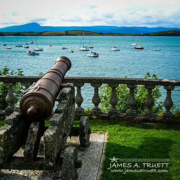 Weathered Cannon Guards Ireland's Historic Bantry Bay