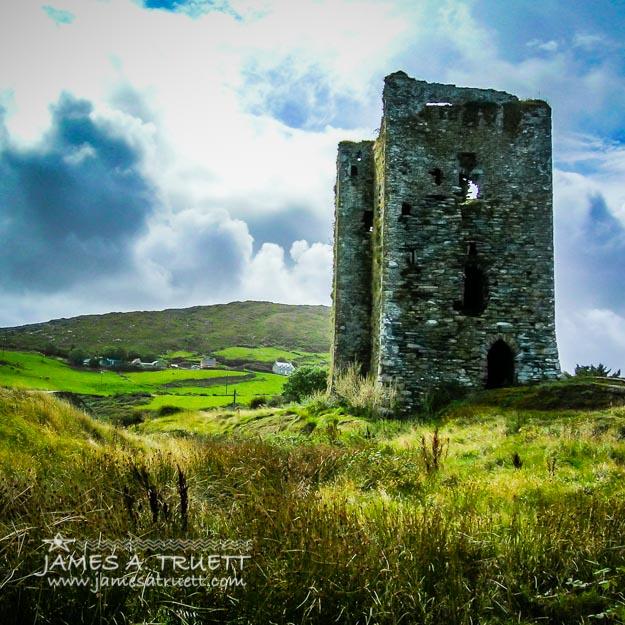 Medieval Dunmanus Castle on Ireland's Mizen Peninsula