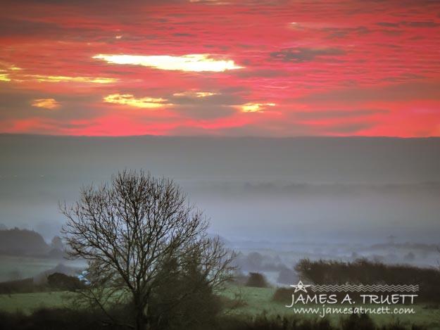 Misty Morning Sunrise over Western Ireland
