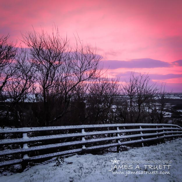 Snowy sunrise over Western Ireland