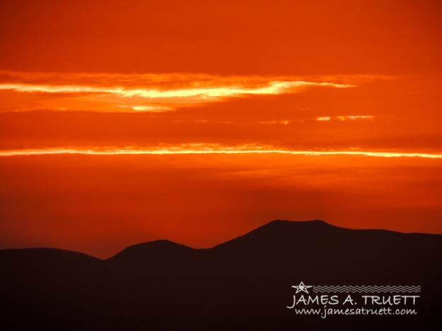 Sunrise over Ireland's Galtee Mountains