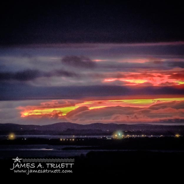 Dawn over Ireland's Shannon Airport in County Clare.