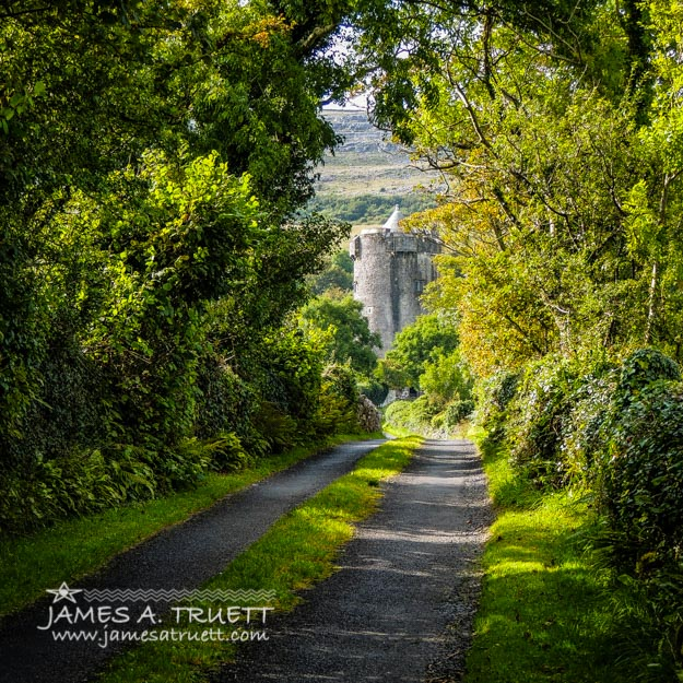 Path to Newtown Castle in Ireland's County Clare