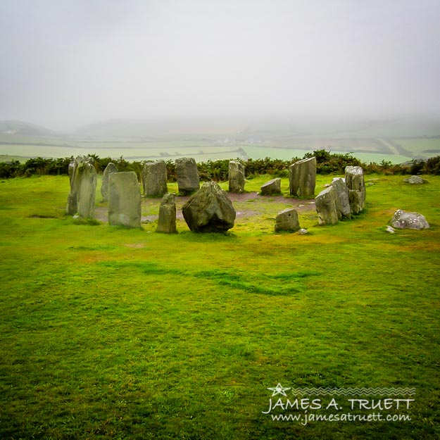 Ancient Drombeg Stone Circle in Ireland's County Cork