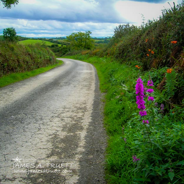 Irish Country Road in County Clare