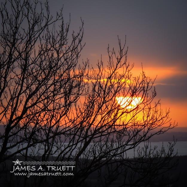 Chilly Irish Sunrise as Winter Fades
