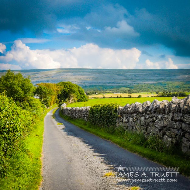 Burren Country Road in Ireland's County Clare.