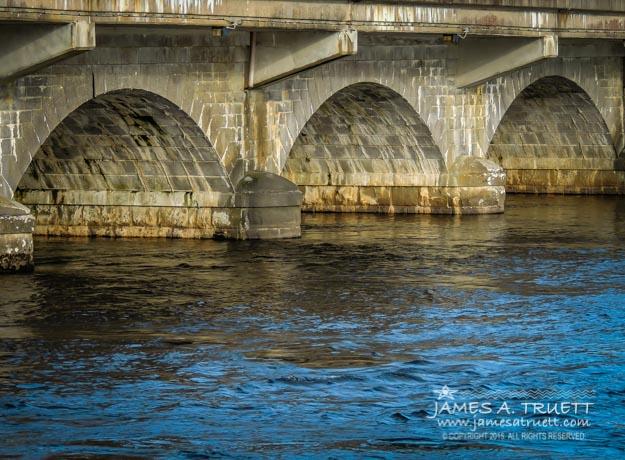Arched Bridge over Ireland's River Shannon