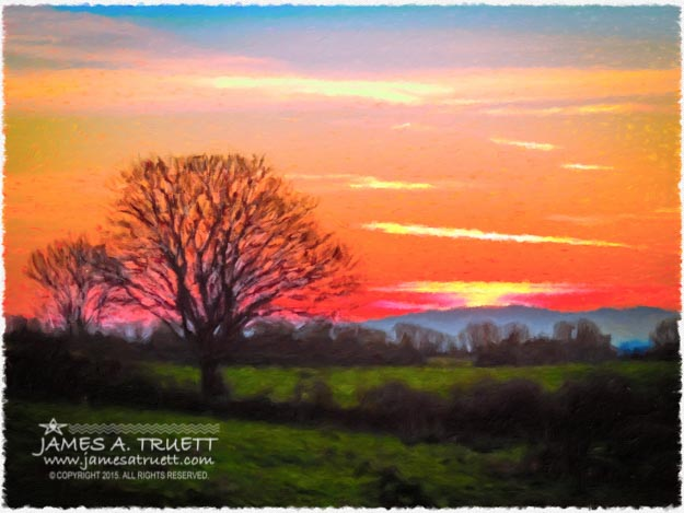 Symphonic Irish Spring Sunrise over Lissycasey, County Clare