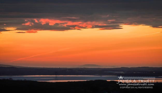 Sunrise Reflecting in River Fergus near Ennis, County Clare