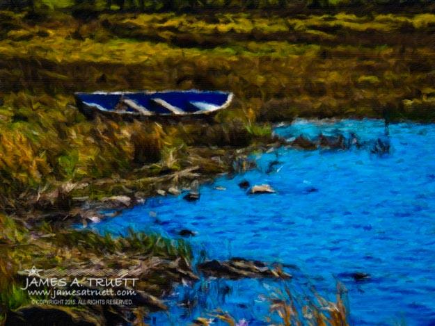 Rowboat on an Irish Lake