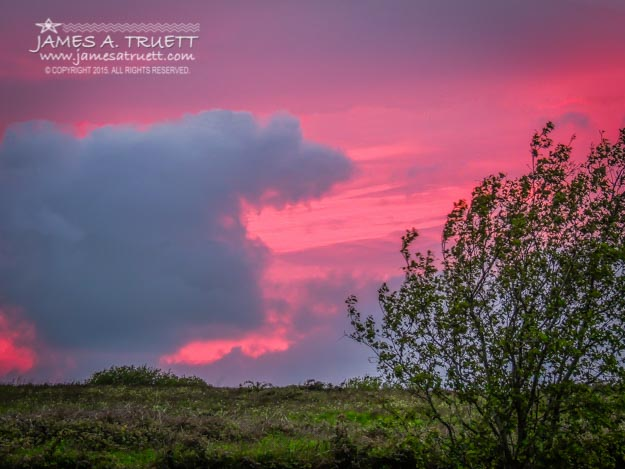 Crimson Sunset in Irish Spring