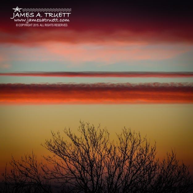 Crimson Clouds at Sunrise