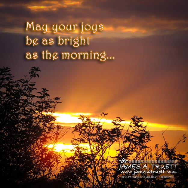 An inspiring morning Irish blessing