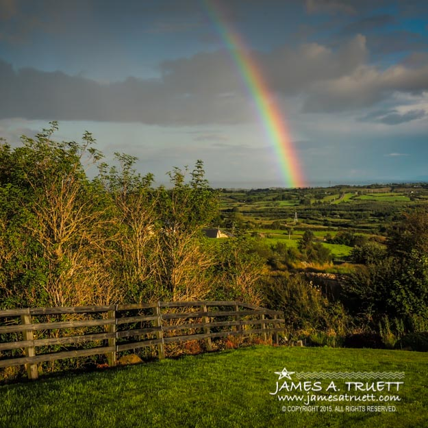 Evening Rainbow over County Clare