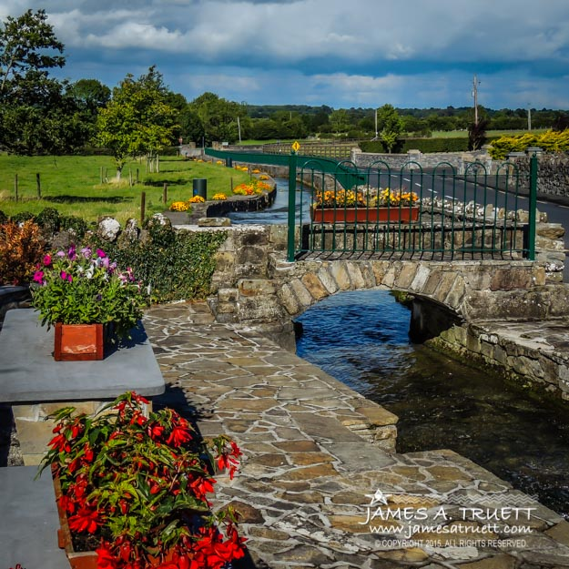Roadside Park along County Galway's Abbey River.
