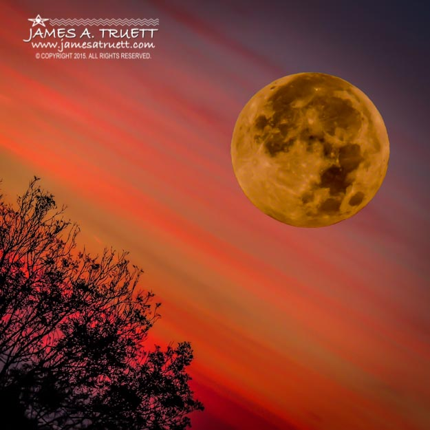 Autumn Super Moon and Irish Sunrise