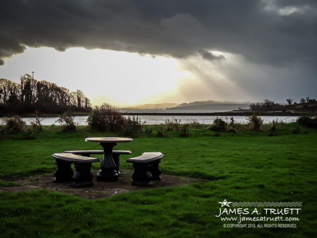 Storm over Ireland's Shannon Estuary
