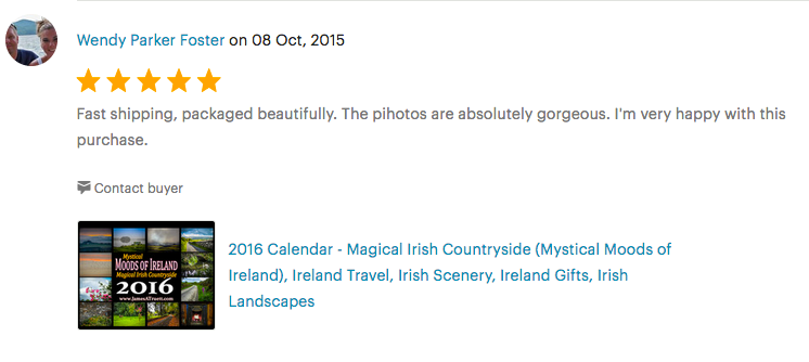 2016 Moods of Ireland Wall Calendar Review