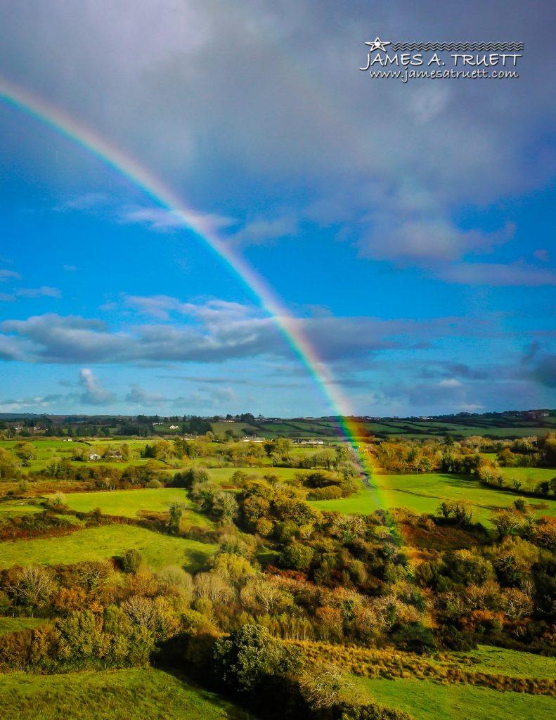 Rainbow over Irish Countryside