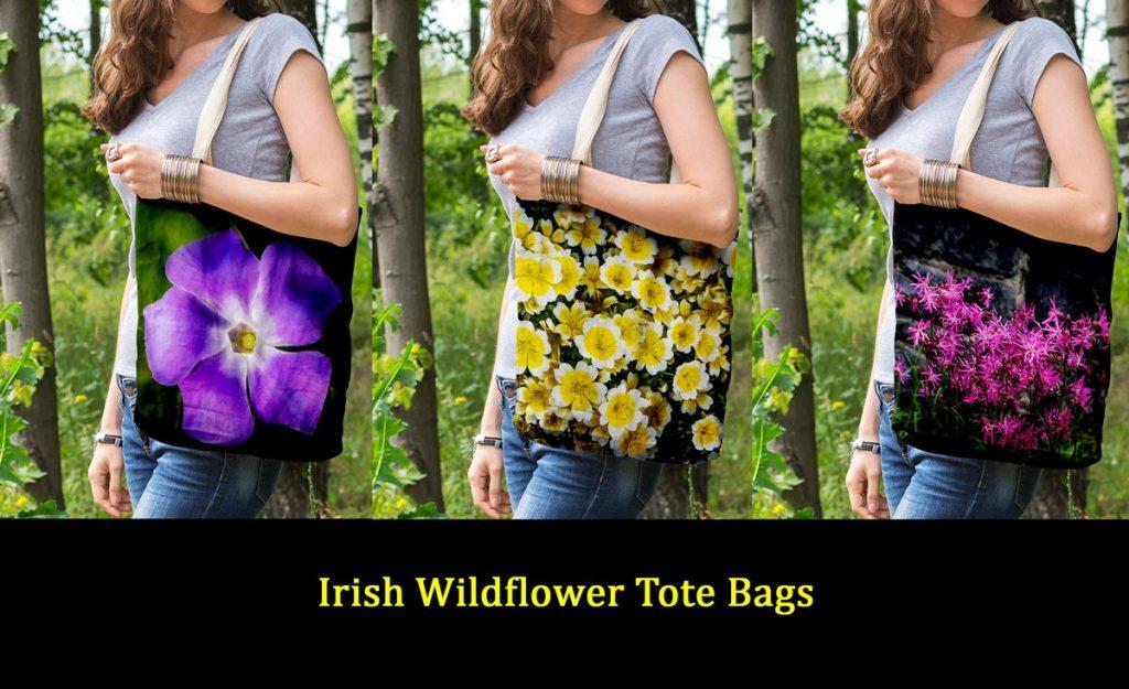 Irish Wildflower Tote Bags